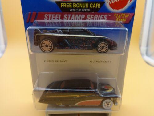 Hot Wheels 2 Pack Steel Stamp MIB Passion w// WW /& Zender w// UH wheels