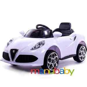 Alfa romeo 4c macchina elettrica 12v per bambini auto x for Macchina per cucire elettrica