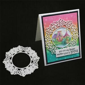 Stanzschablone-Kranz-Rahmen-Weihnachts-Oster-Hochzeit-Geburtstag-Karte-Album-DIY
