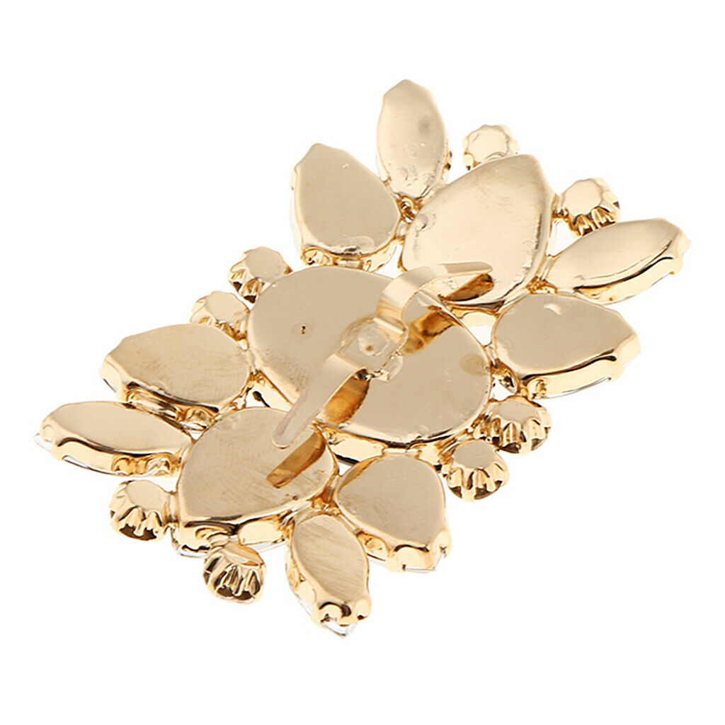 Crystal Shoe Clips Bridal High Heel Shoes Buckle Clip Prom Shoe Charms
