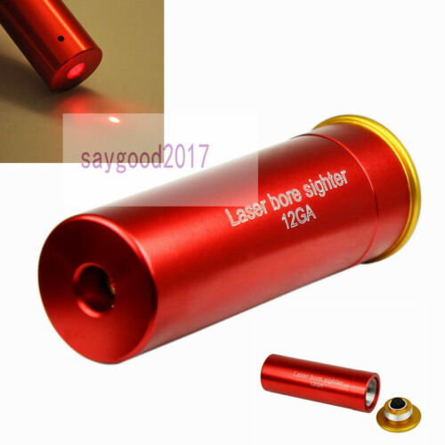 12 Gauge Red Laser Cartridge Bore Sighter Hunting Shotgun 12GA Boresighter CAL