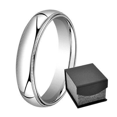 5mm Men/'s or Ladies Gold Plated Titanium With Milgrain Edge Wedding Band Ring