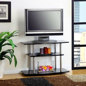 Tall Tv Stand Flat Screen Television 32 Inch Media Center Living Room Storage Ebay