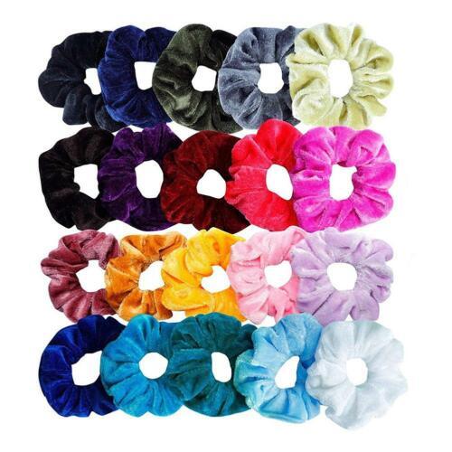 40pcs Hair Scrunchies Velvet Elastic Rubber Band Hair Ties Rope for Women Girls