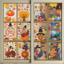 Turkey Sticker Thanksgiving Wall Sticker Pumpkin Window Stickers Home Decore New
