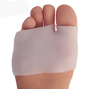 2PCS-Silicone-Half-Toe-Sleeve-Metatarsal-Pads-Gel-Toe-Caps-For-Forefoot-amp-Bunion