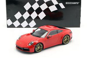 Porsche-911-992-Carrera-4S-Baujahr-2019-indischrot-1-18-Minichamps