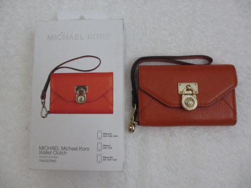 $80 NEW MICHAEL KORS MK Wallet Clutch Wristlet for Apple iPhone 3GS 4 4S