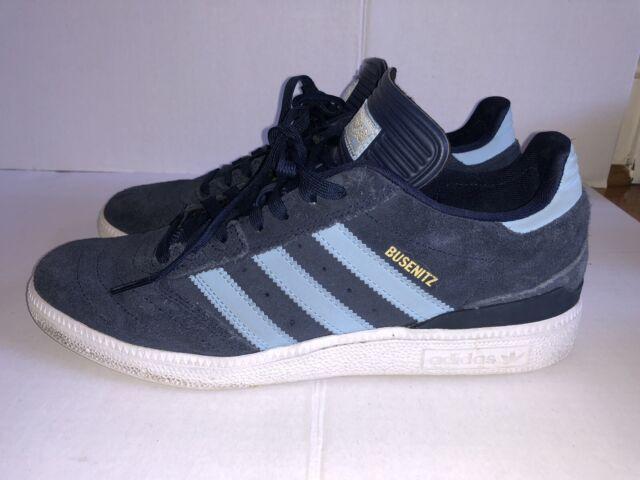Adidas Dennis Busenitz Sz.  navy suede & light blue skateboarding sneakers shoes