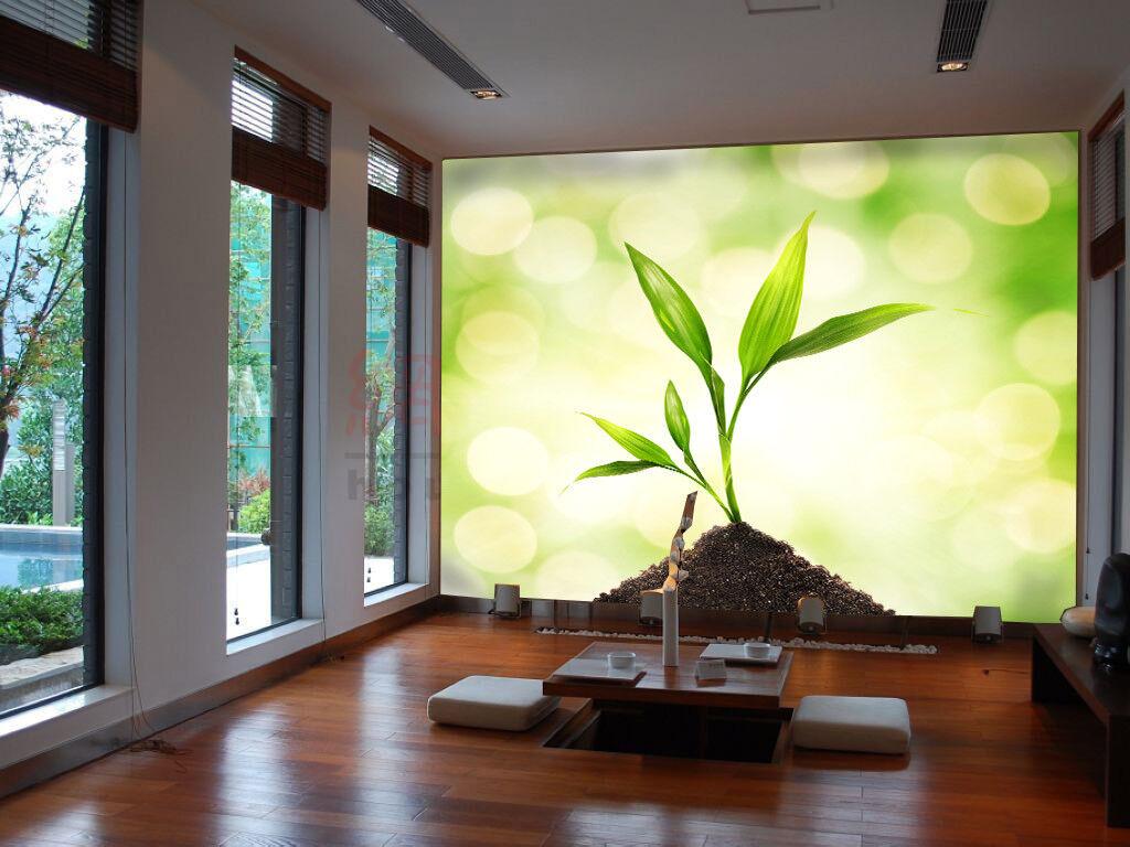 3D Fresh Grün Plant 8 Wall Paper Murals Wall Print Wall Wallpaper Mural AU Kyra
