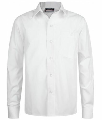 Blue or white Long Sleeve Generous Cut Shirts Twin Pack