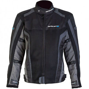 SPADA-CORSA-GP-AIR-WATERPROOF-MOTORCYCLE-JACKET-SPORTS-SUMMER-MESH-BLACK-GREY