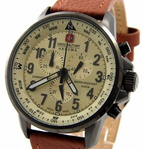 SWISS-MILITARY-HANOWA-06-4297-30-002-XXL-46mm-HERREN-CHRONOGRAPH-ARROW-NEU