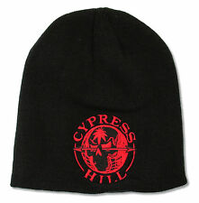 "CYPRESS HILL ""RED GLOBE"" BLACK BEANIE HAT NEW OFFICIAL ADULT RAP"