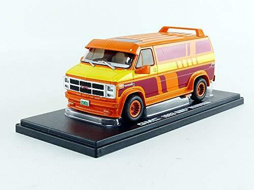 Greenlight 1:43 1983 GMC Vandura Orange with Custom Graphics 86327