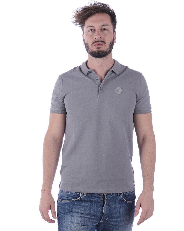 Versace Collection Polo Shirt Cotton Man Grey V800488SVJ00003 V7652
