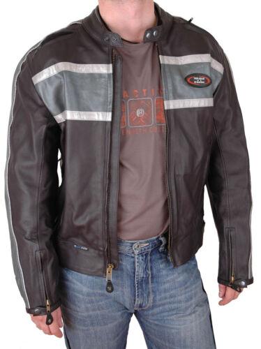 LEATHER MOTORCYCLE JACKET COAT W// TFL COOL SYSTEM 38
