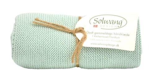 3Handtuch Küchentuch gestrickt aqua staubig H29 Solwang Design DK