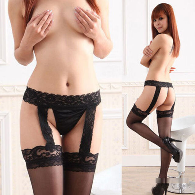 Women Sexy Sheer Pantyhose Top Lace Garter Suspender Tights Thigh Stockings Hot