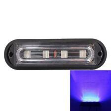12W 720LM 4-LED Blue Light 18 Flash Patterns Car Strobe Emergency Warning Light