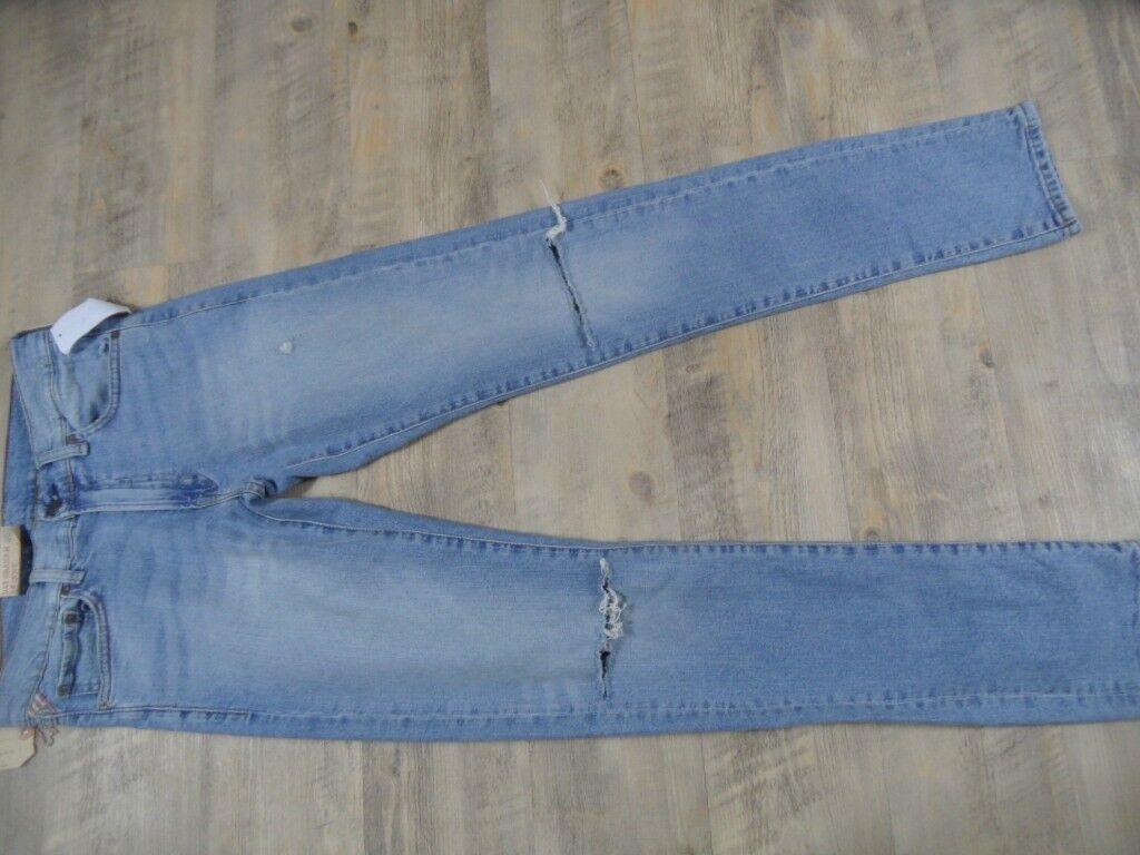 RALPH LAUREN coole Jeans D&S Graham skinny zerrissene Knie Gr. 29 34  NEU