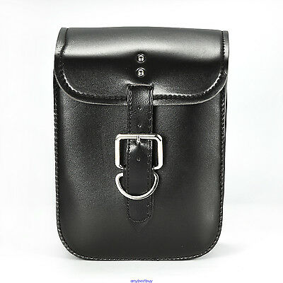 Black Motorcycle Motorbike Sport Bike PU Leather Saddle Bag Side Bags For Honda