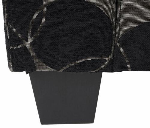 Textil grau//schwarz 3er Sofa Couch Loungesofa Lille