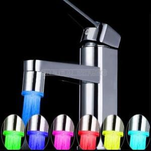 7 Color Rgb Led Light Water Faucet Tap Temperature Sensor