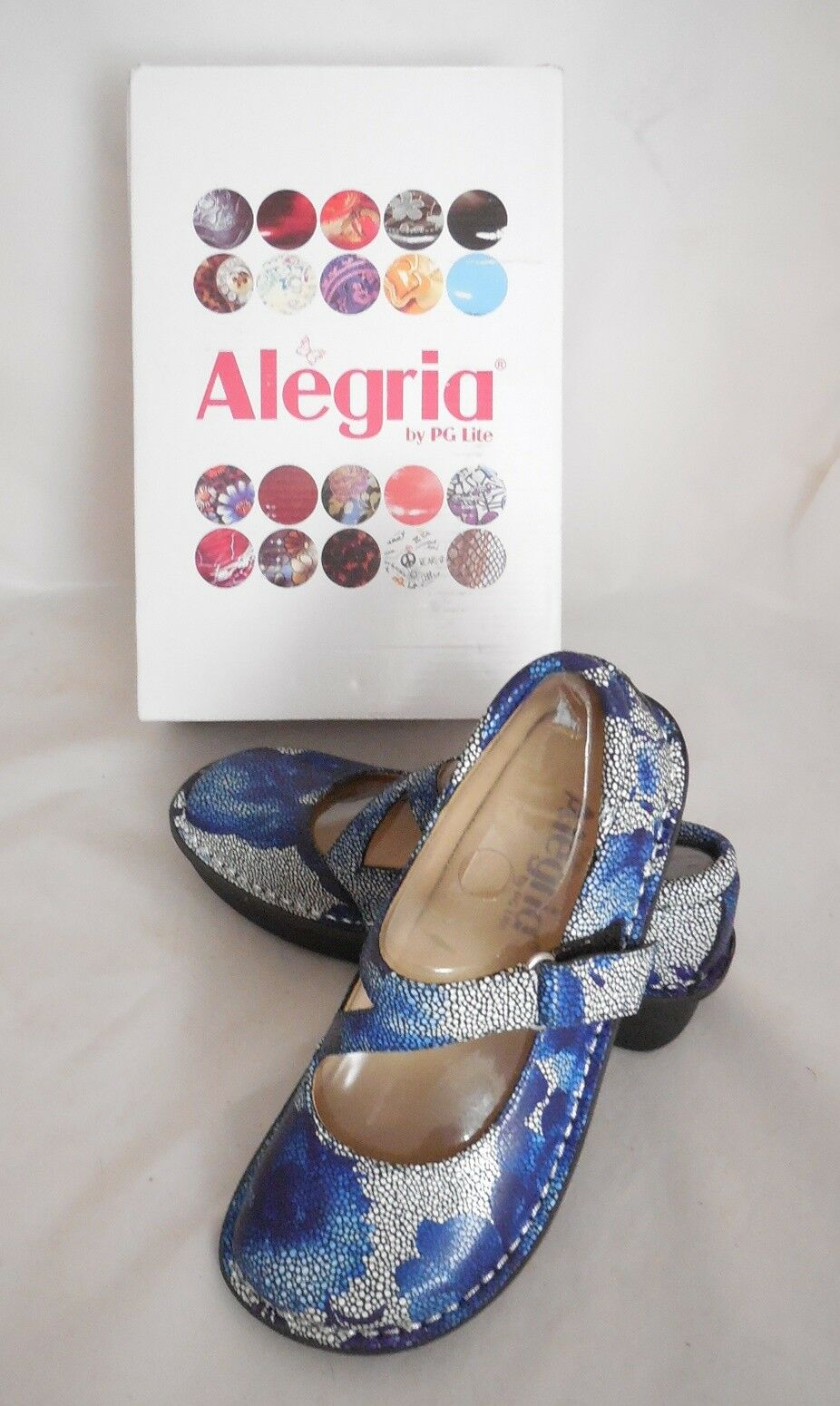 Alegria Women's Dayna DAY-367 Flats bluee Bouquet Bouquet Bouquet Mary Jane Clog Sz 35 (US 5-5.5) 456d43