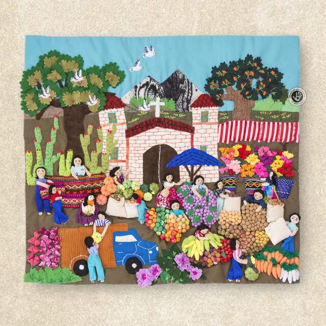 Wall Hanging Quilt - 3D peruvian textile artwork - Arpillera art ...
