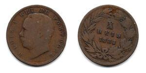 Portugal-antigua-moneda-de-10-Reis-1883-Luiz-I-Luis-I