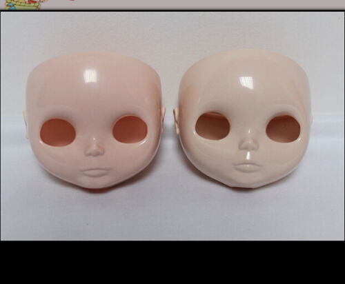 """1PC White and pink skin Takara Blythe Faceplate for RBL 12/"""" Neo Blythe Doll"""