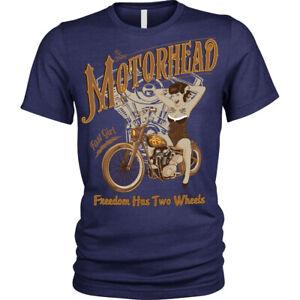 Motorhead-T-Shirt-biker-pinup-Unisex-Mens