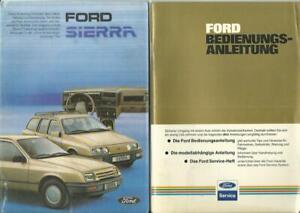 FORD-SIERRA-1-1983-Betriebsanleitung-82-Bedienungsanleitung-Handbuch-2teilig-BA