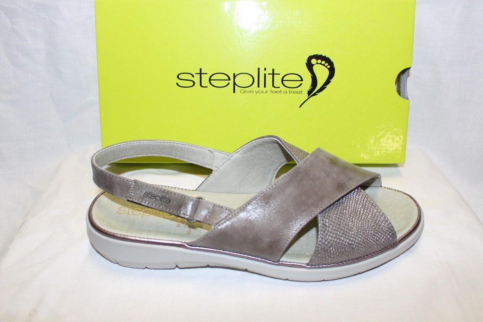 LADIES SHOES FOOTWEAR -Steplite sandal Cornell grey