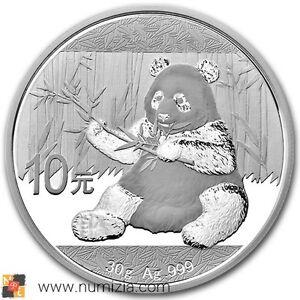 CHINA-10-Yuan-2017-Panda-30-gramos-de-plata-S-C-En-Capsula-de-la-MInt-CHINE