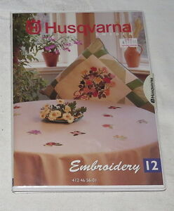 Husqvarna Sewing Guide Embroidery 12 Flowers NEW 1996 412 4656-01