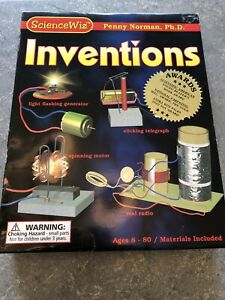 New-Kids-ScienceWiz-Inventions-Kit-Penny-Norman-Ph-D-Kit-Sealed