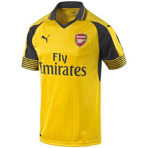 Details about Puma Arsenal FC 2016 - 2017 Away Soccer Jersey Brand New  Yellow / Black