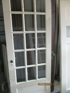 Exterior 15 Pane Bevelled Glass Door No Hardware Approx 32 X 83 We Ship Ebay