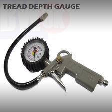 CAR CYCLE TYRE TIRE AIR INFLATOR DIAL PRESSURE DEPTH METER GAUGE COMPRESSOR TY16