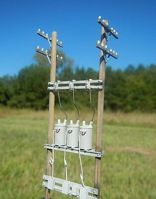 HO Scale 40 Ft Three-Phase Down-line Regulator Assembly forModelRailroad (23002)