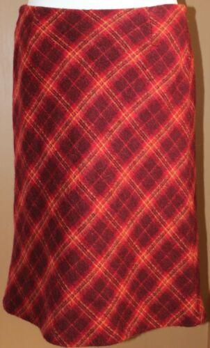 Charles Gray London Red Plaid Skirt Wool 8