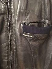Vintage MEMBERS ONLY Black Leather Cafe Racer Mens Jacket size 46