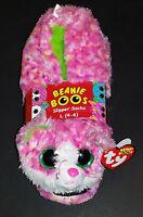 (1) Ty Beanie Boos Slipper Socks Children Size Large 4-6 Sophie The Cat