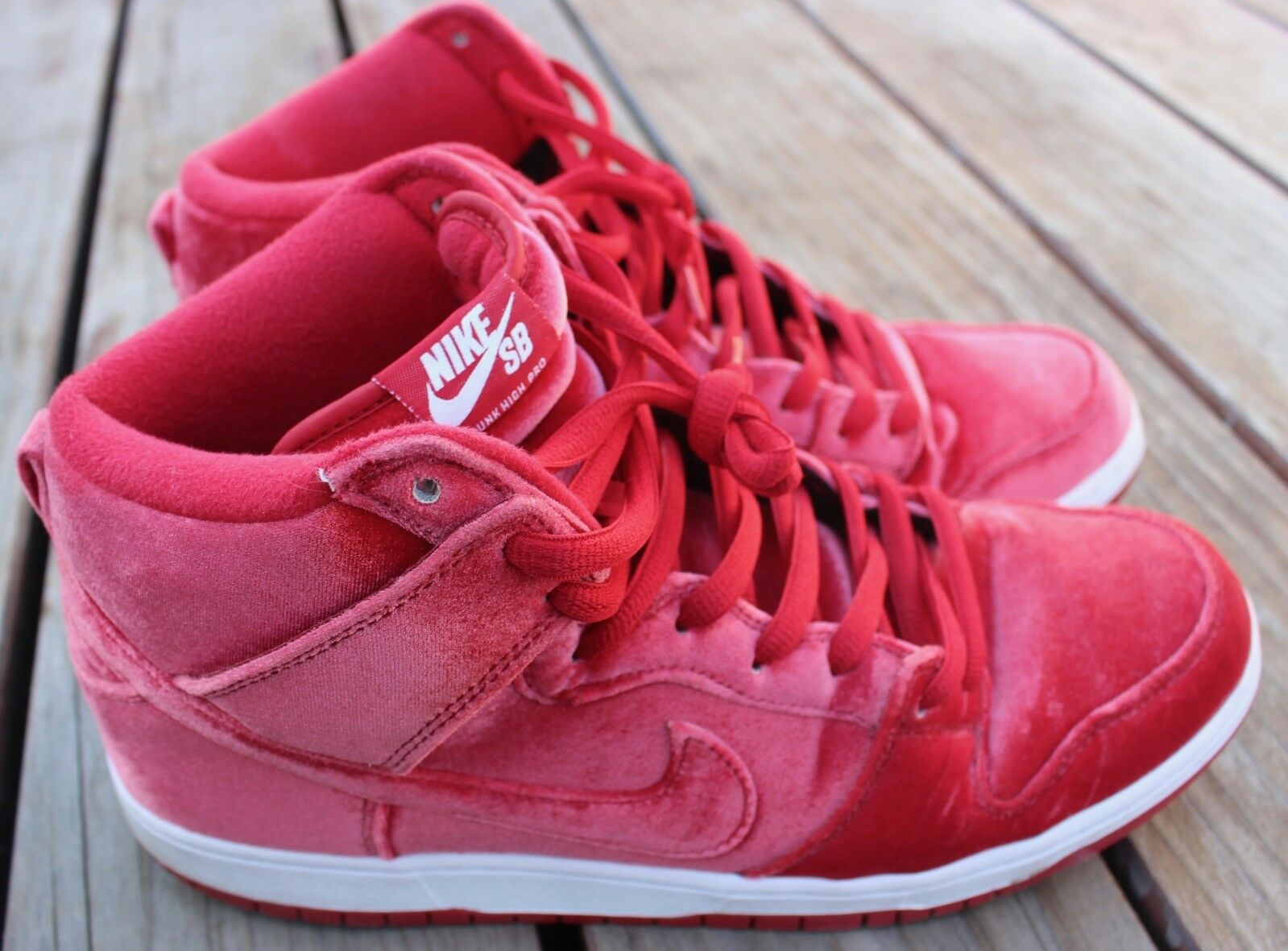 Nike Dunk High Premium SB Gym Red Suede Shoes Box 313171-661 Size 12 Skateboard