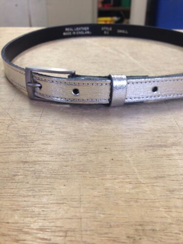 """MANY COLOURS AND SIZES B2 Ladies//womens LEATHER  BELT 18MM WIDE 3//4/"""""""