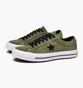 Details about Converse Mens One Star 74 Ox Suede 163249C Field SurplusBlackWhite Size 10