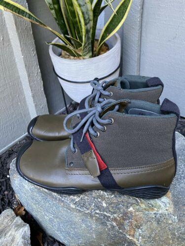 Rare Vintage PRADA 1044 Woman's Military Leather A