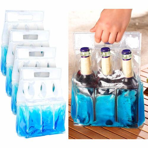 PEARL 4er-Set Kühl-Tragetaschen für je 6 Flaschen oder Getränkedosen